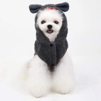 chaleco para perro caniche toy con orejas