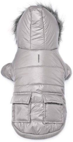abrigo de invierno para perro con capucha con piel sintética compra online en nuestra tienda especializada en caniches