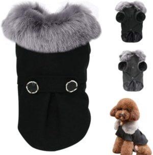 invierno traje elegante chaqueta para perro pequeño poodle toy