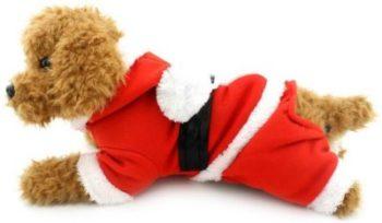 Traje de santa para perro pequeño. Traje de navidad para perro caniche Papá noel navideño