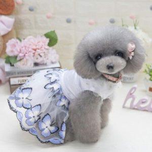 vestido de primavera para perra caniche toy Moda canina
