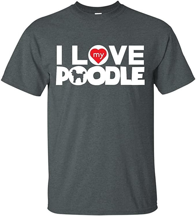 Camiseta I love my poodle