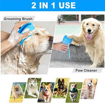 Forma de usar el limpiador de patas para perros caniches o poodle, cómo usar para lavar o limpiar las patas 2 en 1. Dónde comprar el limpiador de patas de silicona