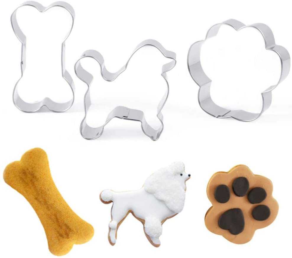 Galletas con formas para tu caniche.  Moldes y cortantes para hacer galletas perrunas para perro caniche o poodle