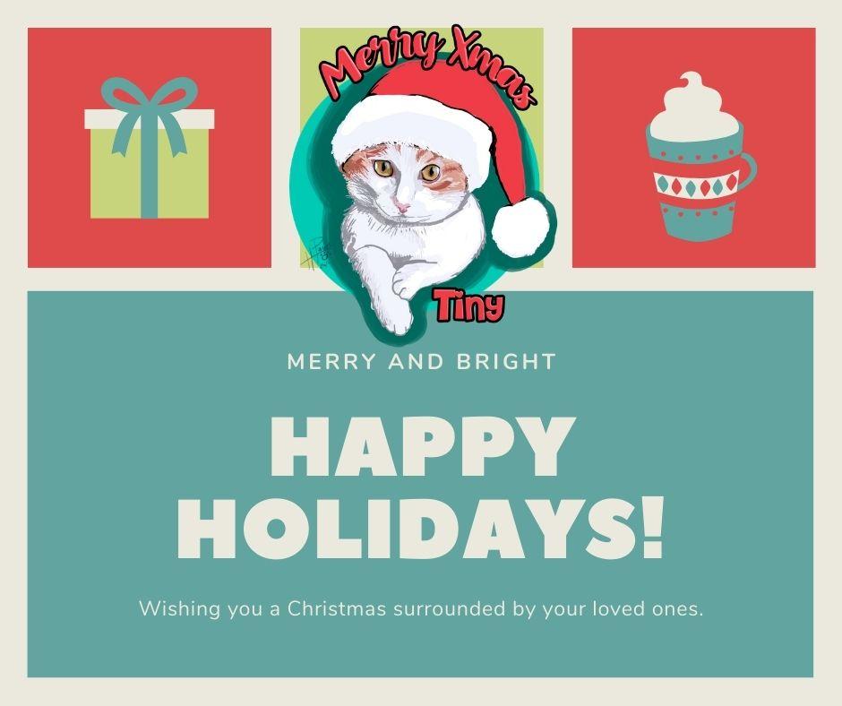 Tarjeta de navidad con retrato personalizado de tu mascota