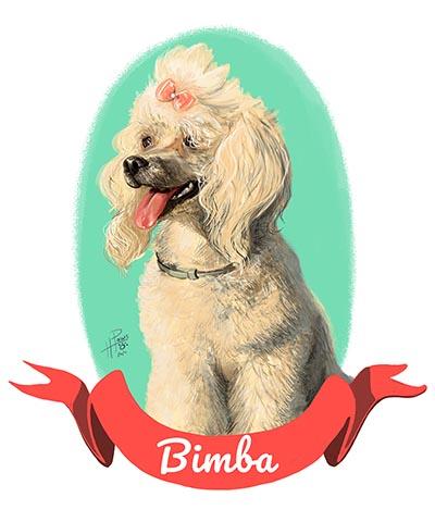 Retrato personalizado y artístico para mascota